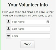 Online form for volunteers