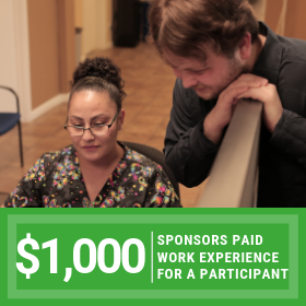 $1000 sponsors 1/2 of a paid internship for a participant