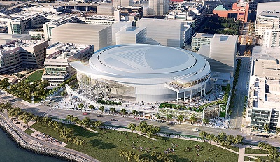 Golden State Warriors at the new Chase Center